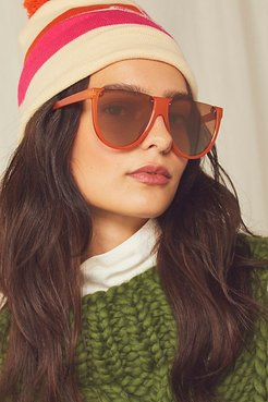 Bowie Shield Sunglasses by Free People, Cayenne, One Size