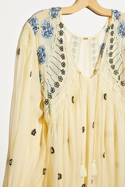 Neon Moon Mini Dress by Free People, White Water Combo, S