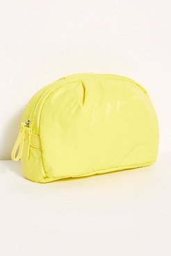 Medium Nimbus Cosmetic Pouch by Caraa at Free People, Citrus Yellow, One Size