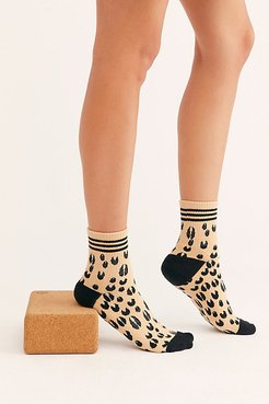 x FP Movement Star Dad Socks by Lucky Honey at Free People, Tan Animal, One Size