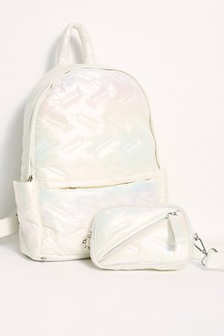 Maya Backpack by Go Dash Dot at Free People, Iridescent, One Size