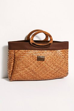 Modesto Basket Tote by Brixton at Free People, Copper, One Size