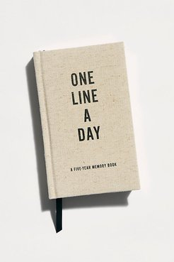 One Line A Day Journal by Chronicle Books at Free People, Canvas, One Size