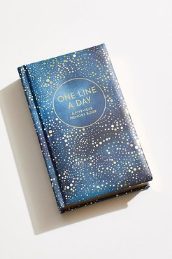 One Line A Day Journal by Chronicle Books at Free People, Celestial, One Size