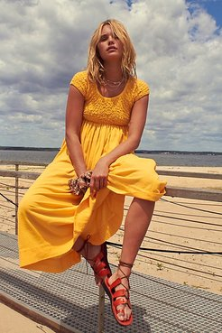 All Eyes On You Midi Dress by Endless Summer at Free People, Saffron, XS