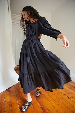 Ibiza Sun Dress Midi by Free People, Black, XS