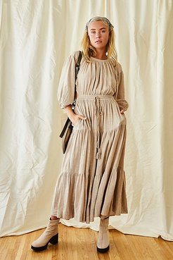 Ibiza Sun Dress Midi by Free People, Mineral Powder, XS