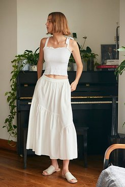 All About Tiers Skirt by Free People, Mineral Bath, M