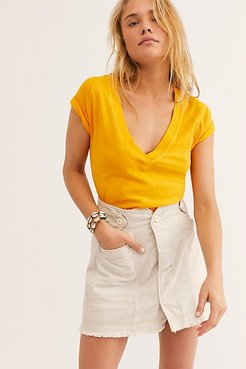 Sun Valley Tee by We The Free at Free People, Orangeade, XS