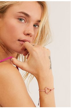 Sublime Heart Bracelet by Mishky at Free People, Pink, One Size