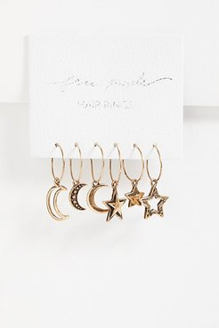 Dancin' In The Moonlight Hair Rings by Free People, Russian Gold, One Size
