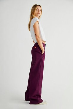 High-Rise Wide Pants by Dickies at Free People, Wine, 1