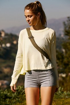 Victory Lap Long Sleeved by FP Movement at Free People, Lemon Juice, XS