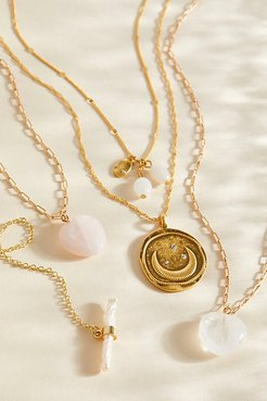 14k Gold Plate Coin Necklace by Free People, Gold, One Size