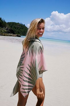 Sustainable Fan Palm Botanical Yoga/Beach Towel by Sora at Free People, Bleached Sun, One Size