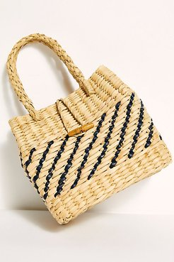 Magnolia Basket Clutch by Free People, Natural, One Size