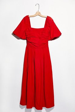 Ain't She A Beaut Midi Dress by Endless Summer at Free People, Island Red, XS