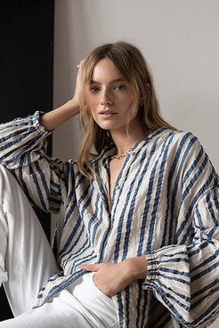 Set Sail Striped Top by We The Free at Free People, Indigo Combo, XS