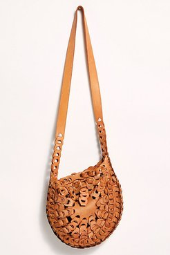 Eclipse Leather Crossbody by Free People, Distressed Tan, One Size
