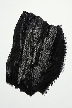 Ginga Painted Blanket Scarf by Destin at Free People, Black Paint, One Size