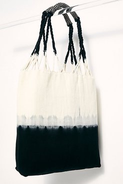 Apolonia Tote by Mercado Global at Free People, Black Hand Dye, One Size