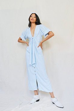 Vintage Summer Midi Dress by Endless Summer at Free People, Icy Blue, XS
