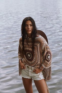 Summer Breeze Poncho by Flook at Free People, Breeze Combo, M
