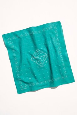 Hand Dyed Printed Bandana by Jenni Earle at Free People, Emerald Green, One Size