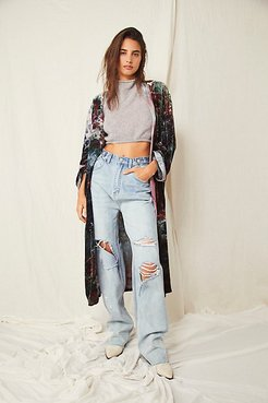 High And Loose Organic Jeans by ZGY DENIM at Free People, Forever Blue, 27