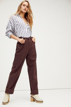 High And Loose Organic Jeans by ZGY DENIM at Free People, Chocolate, 26