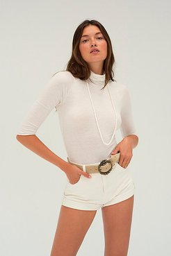 Modern Turtleneck Top by Intimately at Free People, Optic White, XS