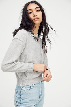 Kora Cashmere Crew Sweater by Free People, Sterling, XS