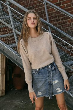 Kora Cashmere Crew Sweater by Free People, Vintage Linen, XS