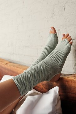Botanical Dyed Open Toe Grip Leg Warmers by Knitido+ at Free People, Language of Flowers, One Size