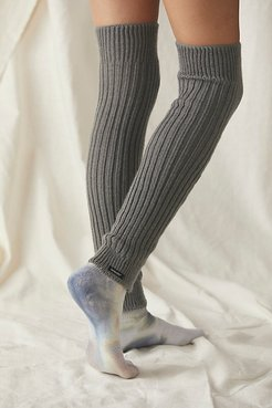 Delaney Ribbed Leg Warmer by Knitido+ at Free People, Dark Grey, One Size