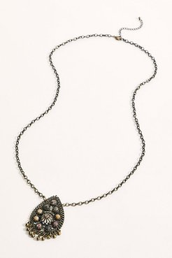 Valerie Pendant Necklace by Free People, Brass, One Size