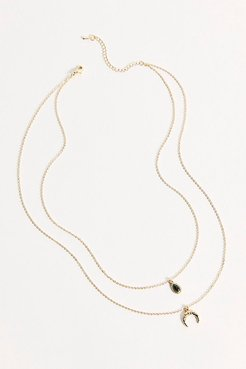 Layered Pendant Necklace by Amber Sceats at Free People, Gold, One Size