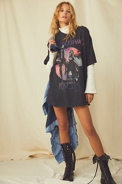 Fleetwood Mac Tee Shirt Dress by Live Nation at Free People, Black, XS/S