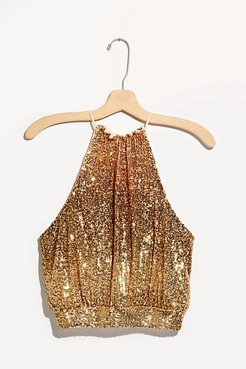 Lights Out Halter Top by Free People, Neutral Combo, L