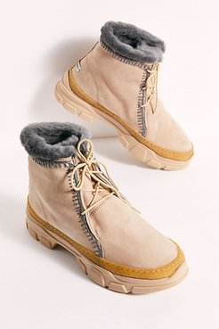 Remy Cozy Ankle Boots by Laid Back London at Free People, Sand, EU 39