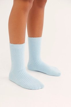 Cashmere Cloud Socks by Free People, Blue, One Size