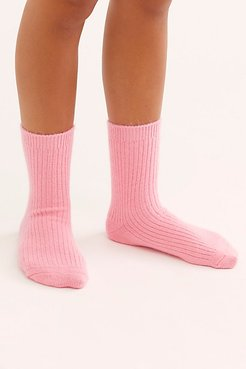 Cashmere Cloud Socks by Free People, Strawberry PInk, One Size
