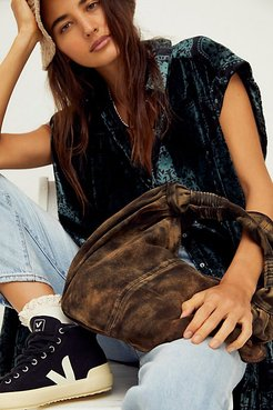 Wilde Suede Clutch by FP Collection at Free People, Bark, One Size