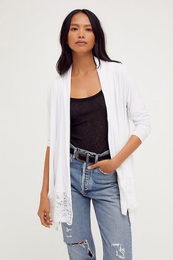 Cocktail Cardi by HAH at Free People, Blanc, XS/S