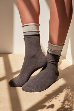 Recycled Pillow Socks 3-Pack by Lemons at Free People, Grey, One Size