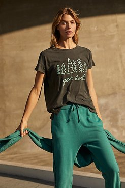 Get Lost Tee by Junk Food at Free People, Heather Grey, XS