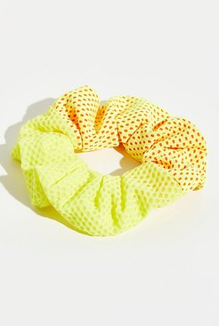 Two Toned Mesh Scrunchie by FP Movement at Free People, Yellow, One Size