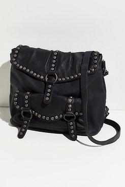 Sumac Studded Messenger by FP Collection at Free People, Washed Black, One Size