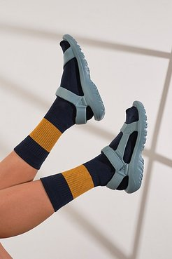 Color Block Pop Socks by Free People, Navy / Gold, One Size