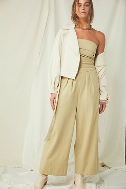 Blake Jumpsuit by Endless Summer at Free People, Parchment, XS
